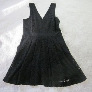 Free People Dress S Black Lace Cut Out Back Skater
